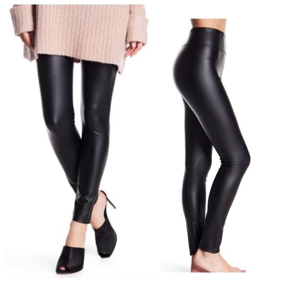 b2457849ce4161 Romeo & Juliet Couture Pants | Faux Leather Leggings Black Nwt Size ...